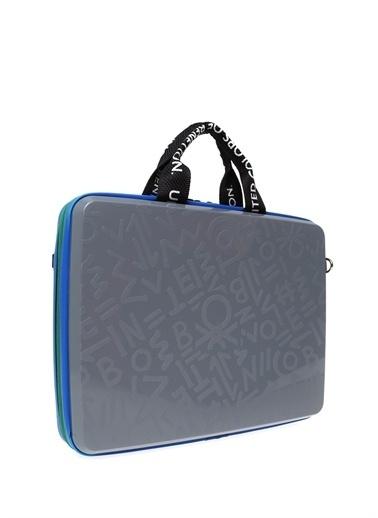 Benetton Laptop /Evrak Çantası Gri